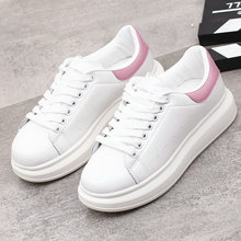 QWEDF 2019 Spring New Designer Wedges White Shoes Female Platform Sneakers Women Tenis Feminino Casual Woman AC-59