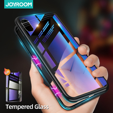 Magnetic Case For iPhone XR XS Max Ultra Thin Tempered Glass Metal Magnet Case Cover For iPhone 8 7 6 6S 7 8 Plus Back Case Skin privacy tempered glass magnetic case for iphone 11 pro max xs max xr x 8 7 6s 6 plus se magnet metal bumper anti peeping cover