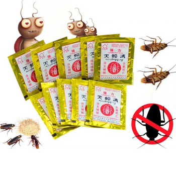 100pcs Cockroach Killer Powder Cockroach Medicine Household Non-toxic  Kitchen Cockroach Killing Bait Powder Cockroach Killer