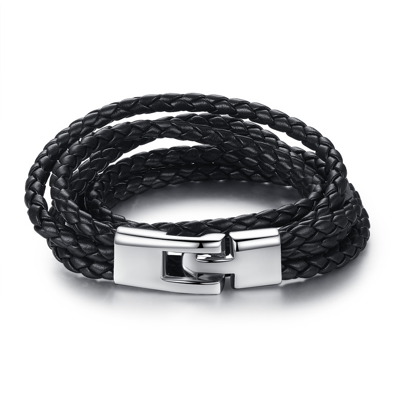 BAMOER 6 Color Wholesale Long Chain Adjustable Magnet Buckle Unisex Leather Bracelets for Women and Men Fashion Jewelry PI0063 H1319bf8c707043fe80346f070f4df2d3q