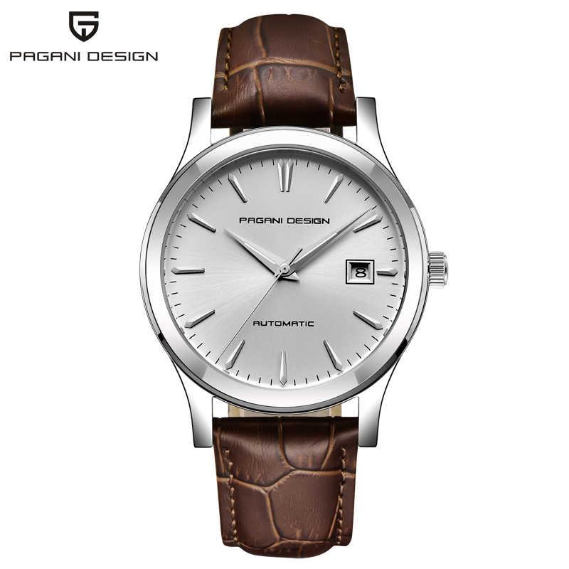 PAGANI تصميم PD 5080 النورس Movt ساعات أوتوماتيكية الرجال الميكانيكية ساعة جلدية رجال الأعمال ساعة اليد سات Relogio Masculino