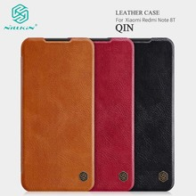 For Xiaomi Redmi Note 8T Flip Phone Case Nillkin Qin Luxury Leather Book Style Full Protective Case Fundas with Card Slot