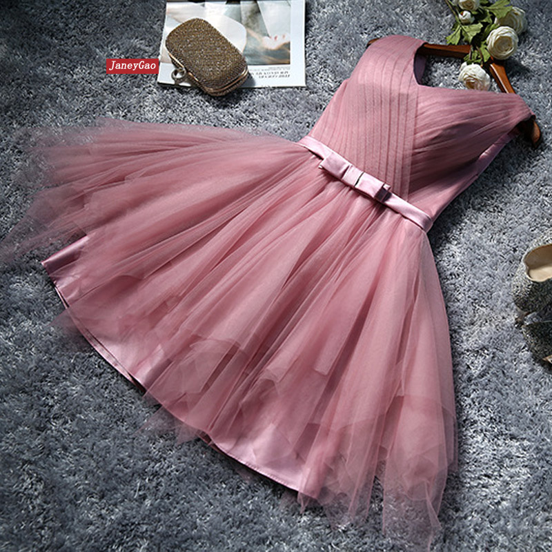 JaneyGao Short Prom Dresses For Formal Party Women Elegant Short Tulle Gown 2019 New Arrival Lace Up Ball Gown Cheap Price