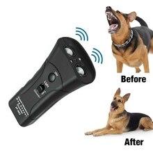 Ультразвуковой отпугиватель для дрессировки собак Контрольное устройство 3 в 1 анти-Лай Стоп-лай устраняет собак устройство для тренировки домашних животных