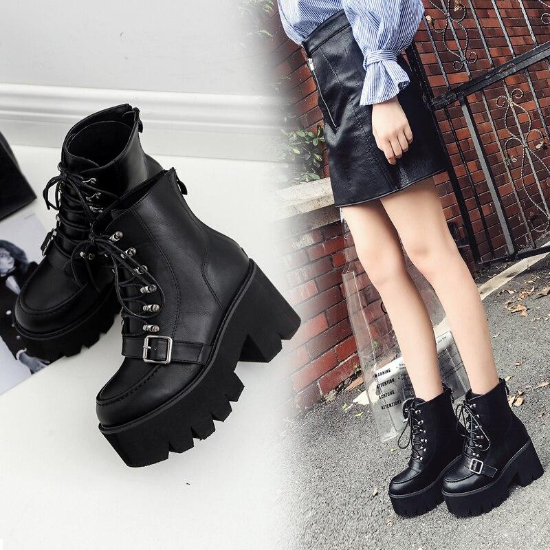 Botas de Mujer, zapatos de piel auténtica para invierno, Botas, zapatos de Mujer informales de primavera, Botas de piel auténtica, botines de Mujer Botas hasta el tobillo    - AliExpress