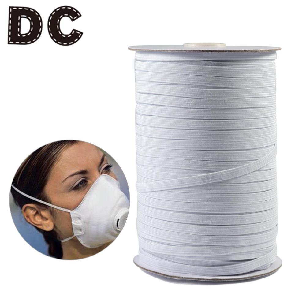 DC 1/5/10Yard Mouth Mask Elastic White Thread Mask Elastic Band High Quality Fixed Elastic Rope For Durability Comfortable