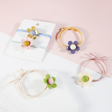 1pc Cute Flower Elastic Rubber Hair Bands Rope Girls Ponytail Holders Headband Cartoon Hair Rings Scrunchies Tie Gum Headwear(China)