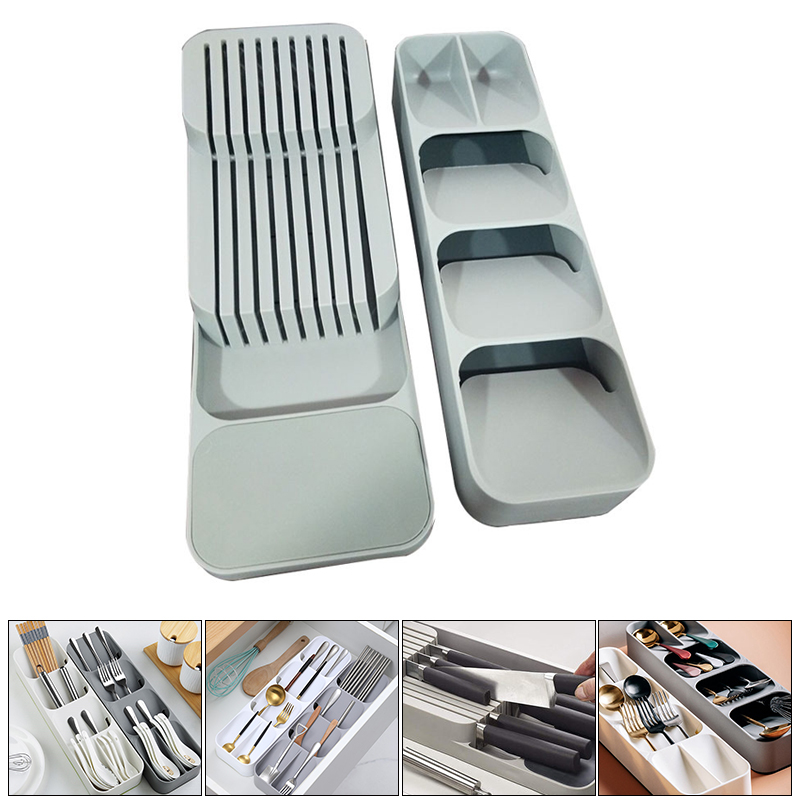 Container Knife-Holder Tableware-Organizer Fork-Storage-Box Spoon Cutlery Plateau Plastic