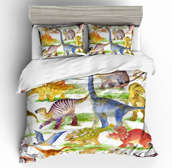 Cartoon Fun Dinosaur Bedding Set 3d, Fun Queen Size Bedding