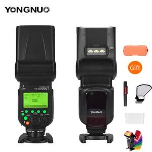 Image 1 - YONGNUO YN968N II flaş Speedlite Canon Nikon DSLR ile uyumlu YN622N YN560 kablosuz TTL Speedlite 1/8000 ile LED ışık