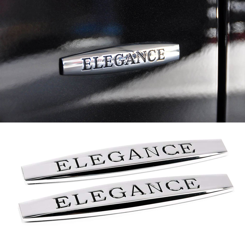 3D Metal Elegance Emblem Logo For <font><b>Mercedes</b></font> <font><b>Benz</b></font> AMG W211 W204 GLA GLK <font><b>W210</b></font> W203 W204 W221 CLA Fender Trunk Sticker <font><b>Accessories</b></font> image