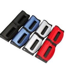 цена на 2pcs Plastic Car Seat Belts Clips Safety Adjustable Stopper Buckle Car belt buckle clip Automobiles Safety Belt Clip Car Styling