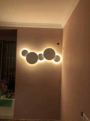 Современный Креативный светодиодный потолочный светильник eclipse, лестница, коридор, задний фон для спальни, прикроватный круглый потолочный светильник для гостиной