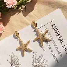 Handmade Cowrie Starfish Women Earrings Gold Geometric Conch Brincos Fashion Summer Ocean Beach Jewelry Stud Earring