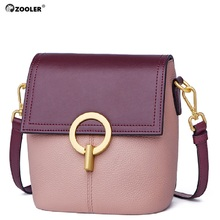 ZOOLER 2019 new bag female genuine leather handbags womens shoulder patchwork fashion designed small Cow bags#CK208