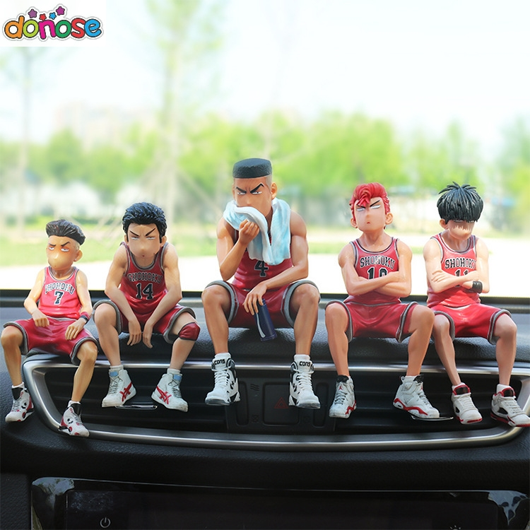 SLAM DUNK Shohoku Basketball Player Anime Figure Doll Hanamichi Sakuragi Rukawa Kaede Model action figure Toys for Children image