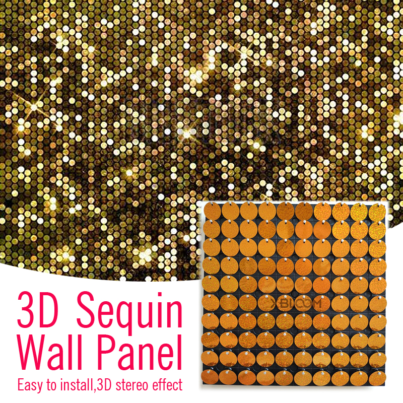30x30cm 3d Wall Stickers Crystal Pneumatic Sequins 3d Art Wall Panel Mirror Wall Cloth Paint Wedding Birthday Party Diy Decor Party Backdrops Aliexpress