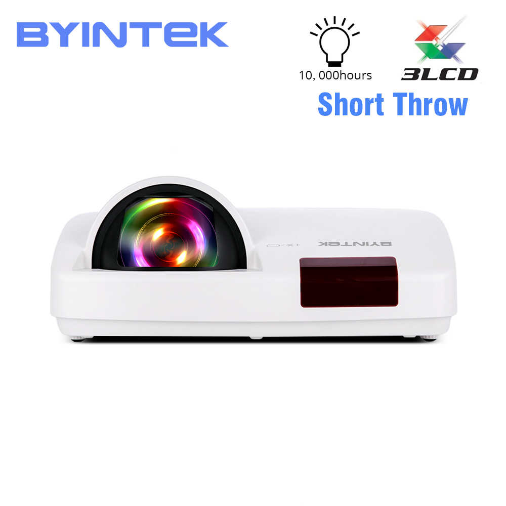Proyector ultracorto Throw de BYINTEK C600LST,3300ANSI,3LCD Full HD 1080P, Proyector de Video, muestra datos, Proyector 3D para educación diurna