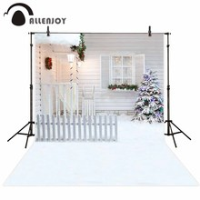 Allenjoy photophone backdrops Christmas tree winter window snow house fence photo studio backgrounds photocall photobooth allenjoy photo backdrops christmas snow celebrate bokeh background photocall photographic photo studio photobooth fantasy