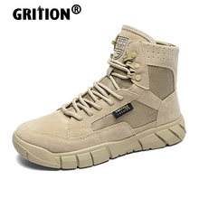 Mountain-Shoes Hiking-Boots GRITION Tactical Outdoor-Winter Breathable Trekking Work-Sand