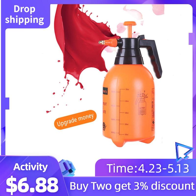Disinfection Water Spray Bottle Garden Watering 2L Pneumatic Automatic Sprayer Orange Bottle Watering Pot Garden Sprinkler Plant