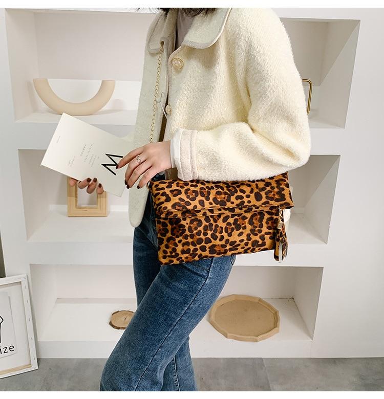 Fashion Leopard Handbag Women's Clutch Bag 4