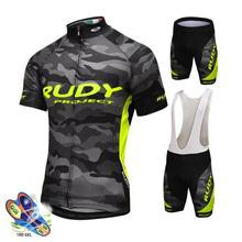 NEW Cycling Jersey Set Summer Men Cushion Racing Bicycle Clothing Suit Breathable Mountain Bike Clothes Sportwears