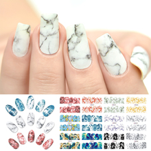 Rolabling Marble Geometry Series Nail Stickers Water Transfer Decal Wraps Sliders Nails Accessories Sticker Nail Art Decorations