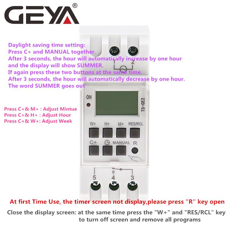 Автоматический регулируемый таймер geya ts ge2 для зимы и лета