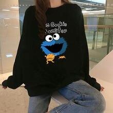 Модные толстовки с капюшоном для женщин флисовые пуловеры мультипликационным