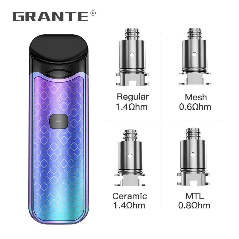 100% Original Grante Lord Coils Regular/Mesh/MTL/Ceramic Core Heads For Pod Vape Kit E Cigs 5pcs/lot