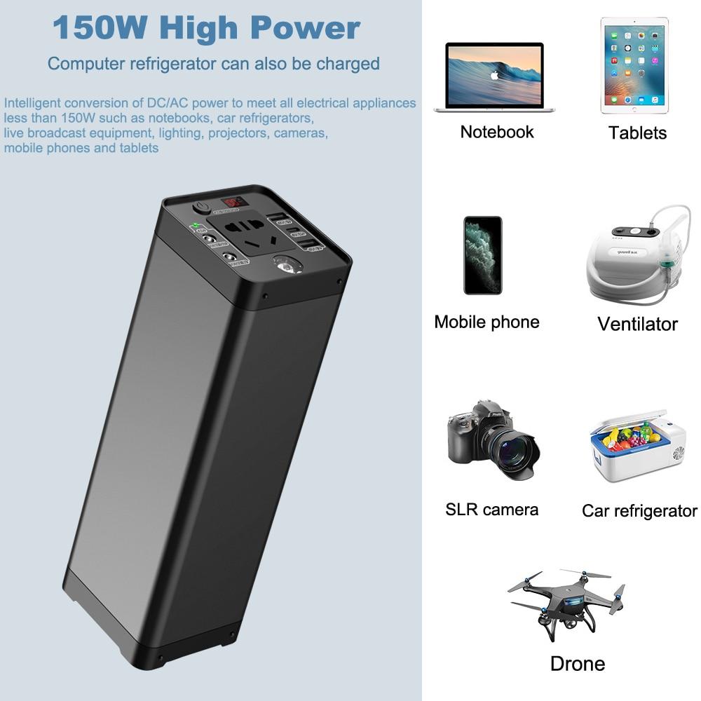 150w estacao de energia portatil 48000mah bateria 04