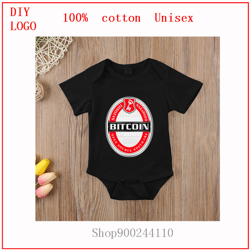 Cute Newborn Children Baby Girl Clothes Bodysuits baby Infant Baby Jumpsuits Sunsuit Kids Summer Clothing Bitcoin Becks Print 1
