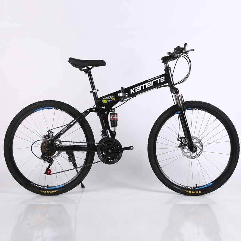 30 speed mountain bike 24 and 26 inch mountain bike Double disc brake mountain bicycle cheap adult student folding bike image