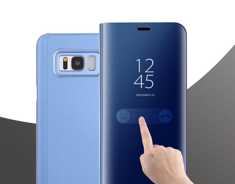 SAMSUNG Original miroir couverture vue claire Flip téléphone étui pour SAMSUNG Galaxy S8 S8 + S8 Plus projet Dream G9508 G955 G950U S8plus - 2