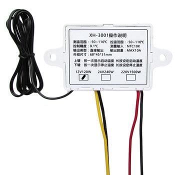 XH-W3001 12V nuevo Control Digital microcomputadora de temperatura interruptor del termostato sonda termorregulador 2