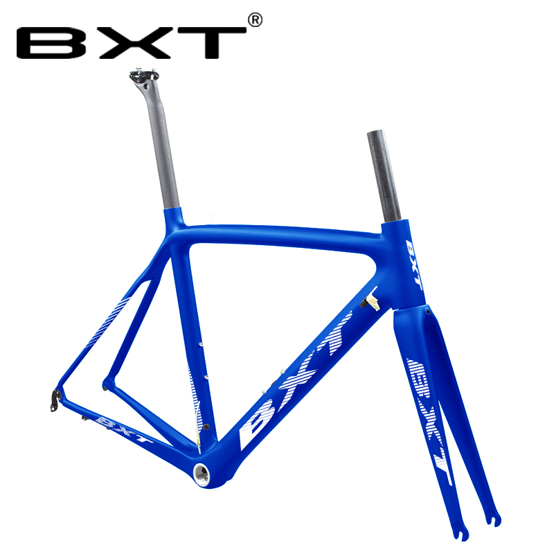 Racing Carbon Road Bike Frame Cycling Bicycle Frameset Whit Fork Seatpost Headset Fit For Both Di2/mechanical Carbon Frame
