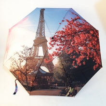 Umbrella Fashion Parasol Princess Creative Women Gift Oil-Painting Arched Female