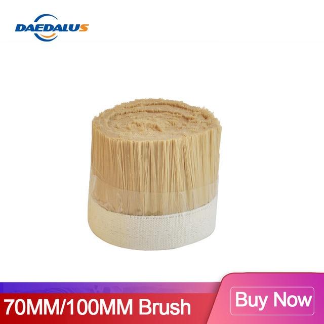 Aspirateur à brosse dorée 1M x 70mm/100mm CNC, outils de Machine à moudre le bois pour moteur à broche CNC