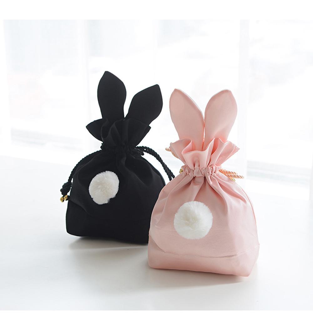 Taşınabilir depolama organizatör çantası kozmetik saklama çantası sevimli büzgülü torba takı çantası hediye ambalaj festivali dekorasyon çanta title=