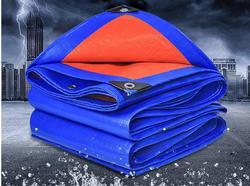 8mX10m azul y naranja al aire libre mercancías que cubren la lona, tela impermeable, lonas, lona de la lluvia, lona del camión,