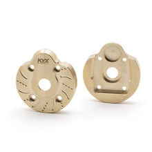 Front Rear Steering Knuckle Caps Brass Axle Covers for Axial Capra UTB RC Car Parts Accessories Counterweight
