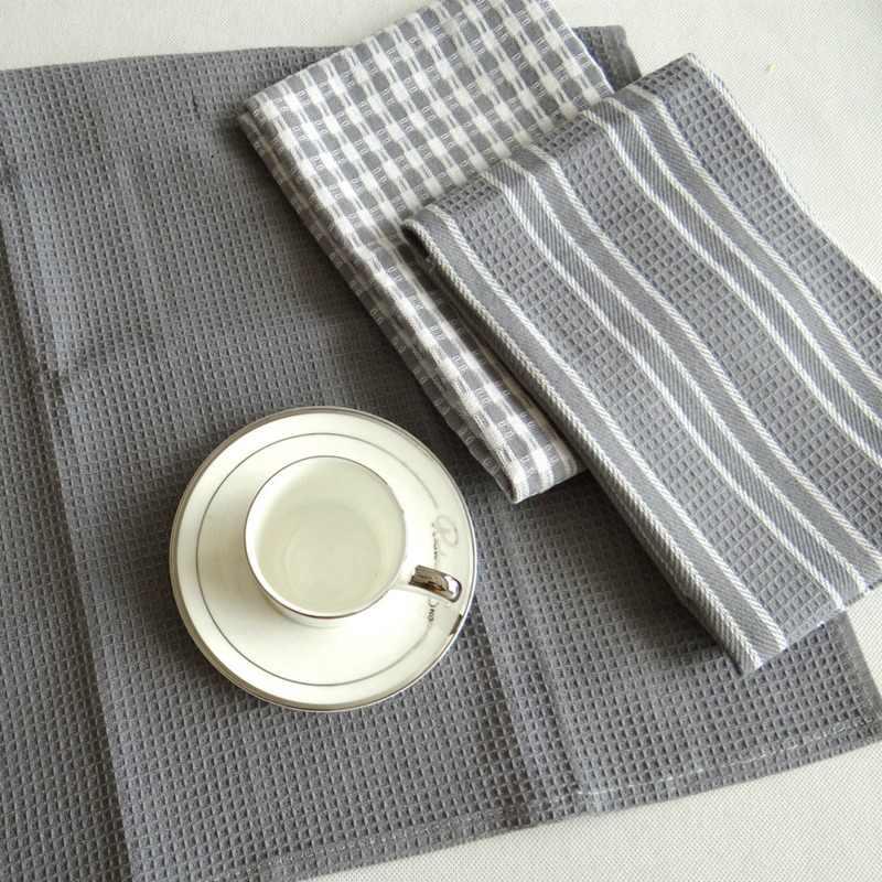 9 개/대/주방 수건 세트 클래식 면화 티 타올 접시 헝겊 흡수성 헤어 기계 식기 홈