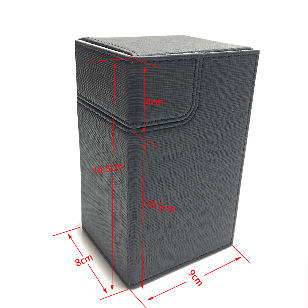 Middle Size Board Game Card Box Card Case Card Container Collection Magic/Pokemon/YuGiOh Cards Deck Box: Black(China)