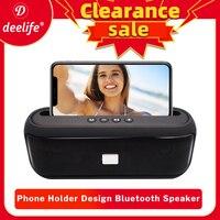 Deelife-altavoz Portátil con Bluetooth, Radio FM, 10w, estéreo, para exteriores, potentes altavoces inalámbricos de música, soporte para teléfono móvil