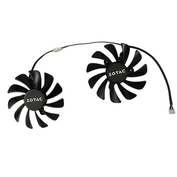 2pcs/set 95MM GAA8S2U GPU VGA Cooler Fan For ZOTAC GeForce GTX1070Ti GTX1080Ti AMP Core Video Cards Cooling image