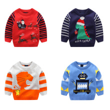 лучшая цена Toddler Girls Sweater Autumn Winter Baby Boy Girl Pullover Warm Clothes Children Cotton Christmas Sweater