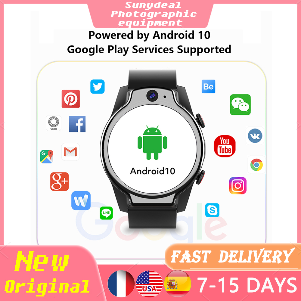 Permalink to Rogbid Brave Pro 4G Android 10 13MP Camera Full Touch Screen Fitness Tracker Heart Rate Blood Pressure Monitor Smart Watch Men