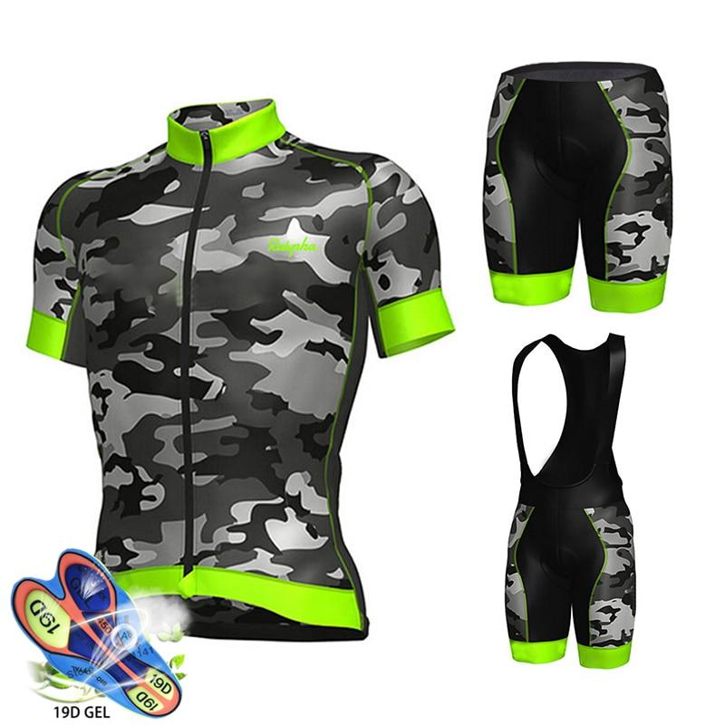 Mens Cycling Jersey Bib Short Bicycle Bike Motocross MTB Shirt Team Shimano Set