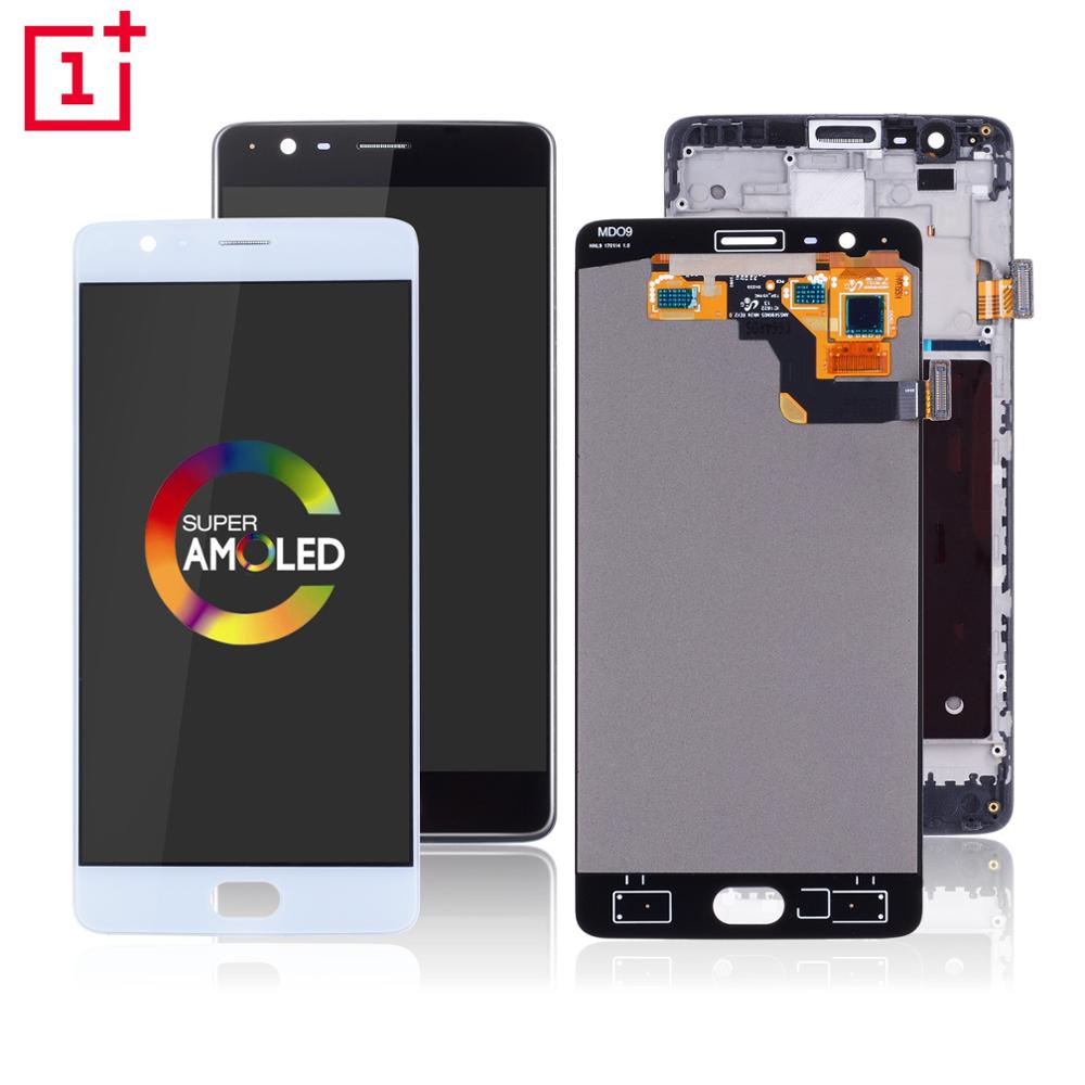 AMOLED Original Display Für <font><b>Oneplus</b></font> 3 Display <font><b>3T</b></font> LCD Touch <font><b>Screen</b></font> mit Rahmen Ersatz Für <font><b>Oneplus</b></font> 3 <font><b>3T</b></font> display A3000 <font><b>A3003</b></font> image